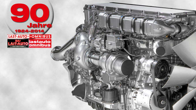 90 Jahre lastauto omnibus, Turbocompound-Technik, Scania, Motor