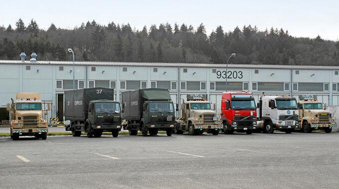 Die deutschen Army-Trucker, Fuhrpark
