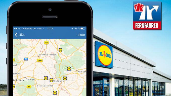 FERNFAHRER Autohöfe App jetzt mit LIDL-Filialen in Autohof-Nähe
