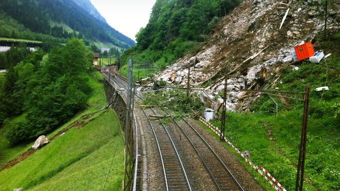 Gotthard, Erdrutsch