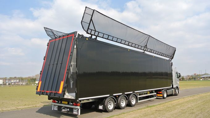 Knapen Trailers, Abfall-Auflieger, Müll, Abfall