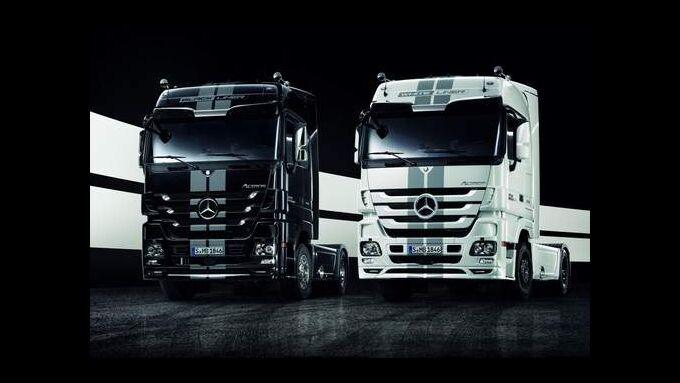 Mercedes präsentiert auf der IAA in Hannover zwei limitiierte Sondermodelle des Actros.