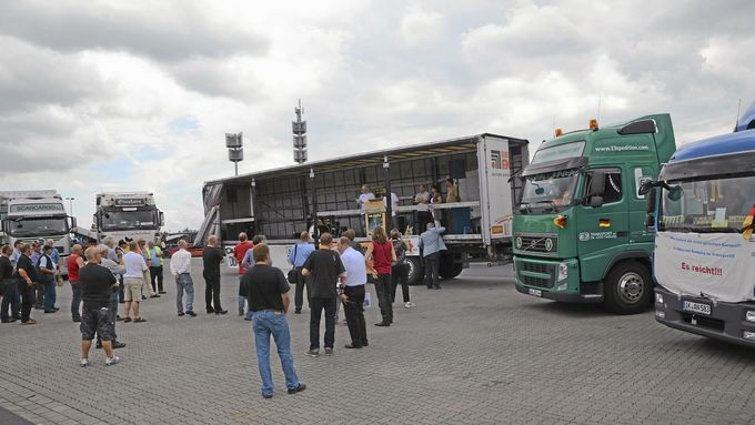 Protest, Autohof, Kraftfahrer-Club Deutschland, KCD
