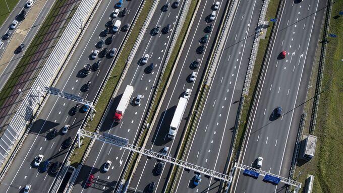 Scania, Straße, Lkw, Autobahn, Straßentransport, Maut