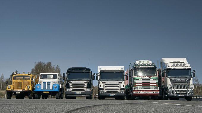 Scania historischer Vergleich der Generationen damals heute Geschichte