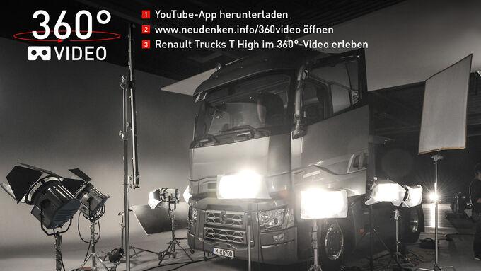 Steigen Sie als virtueller Beifahrer in den Renault Trucks T High ein und erleben Sie ihn hautnah!
