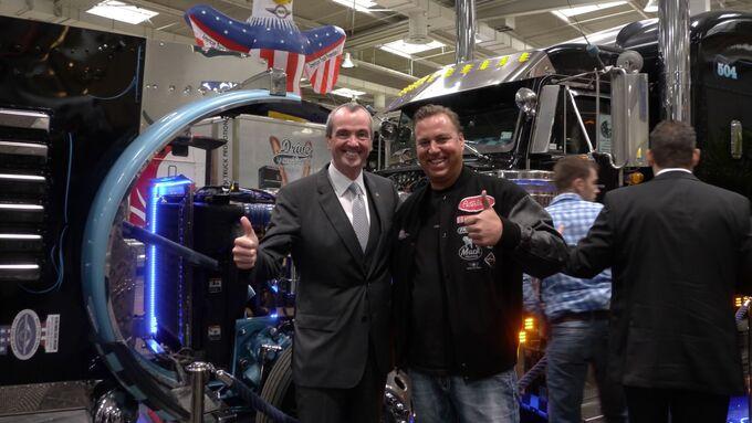 US-Botschafter Murphy, Barkanowitz, IAA 2012, American Trucks Stand