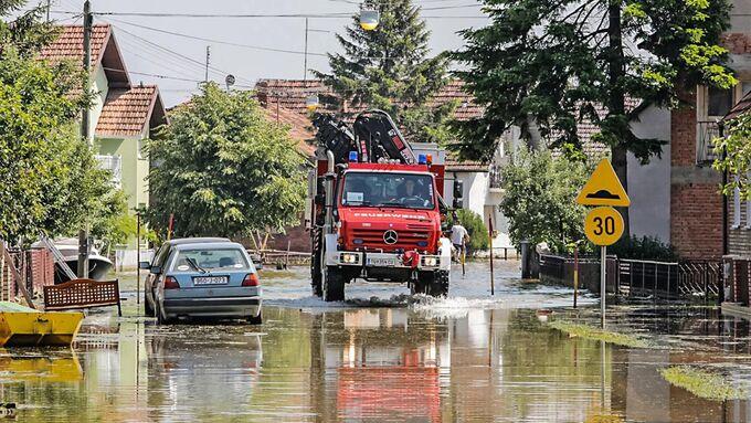 Unimog U 5000, Bosnien, Katastrophenhilfe, 2014