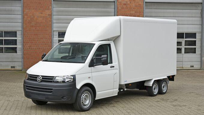 VW Transporter mit Carbon-Kühlaufbau