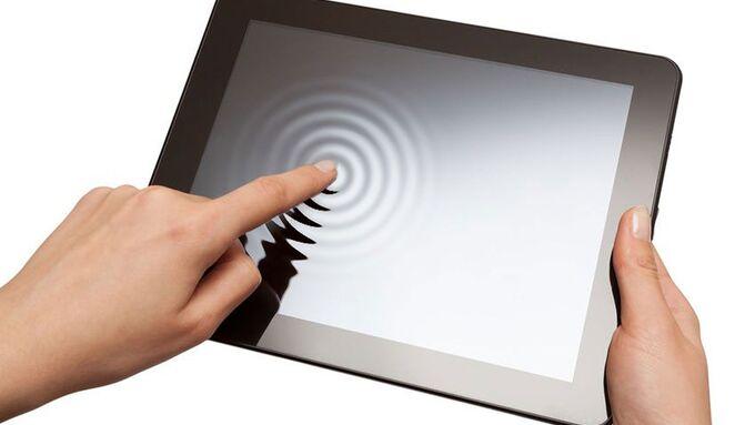 Wellen, Touchscreen, Touchpad,