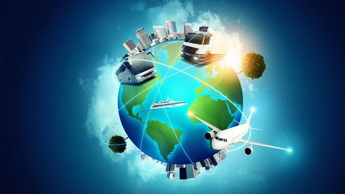 Weltkugel, Verkehr, Erde