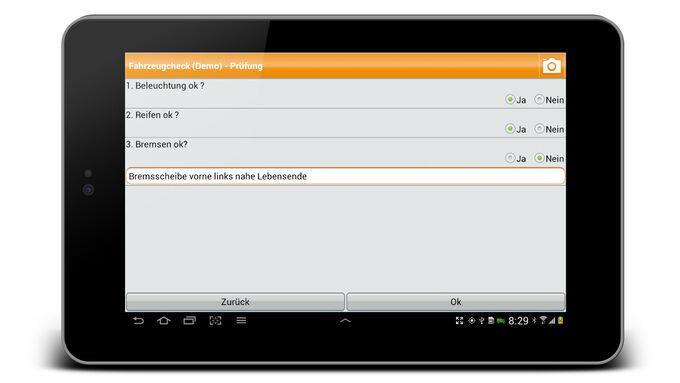 Abfahrtskontrolle mit der Spedion App