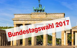 Bundestagswahl 2017, Brandenburger Tor, Berlin