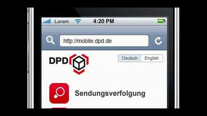 DPD: Internet fürs Handy