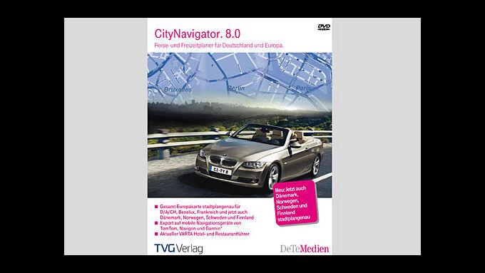 Die neue Software Citynavigator 8.0 von Avanquest und dem TVG Verlag