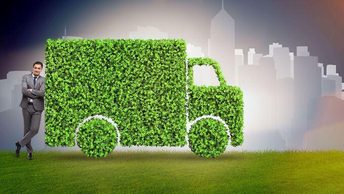 Elektro, Stadtverkehr, E-Lkw, grün, City, Verteiler, E-Lkw, green, City-Logistik