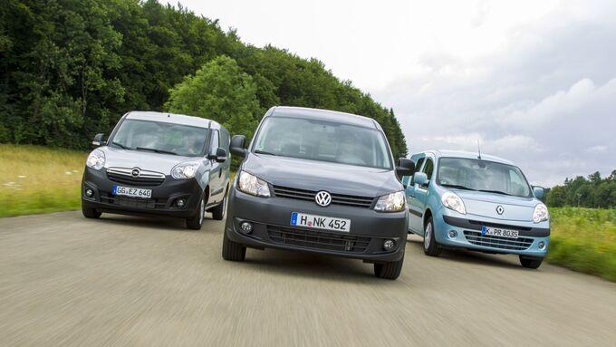 Opel Kombo, VW Caddy Maxi, Renault Kangoo Rapid Maxi