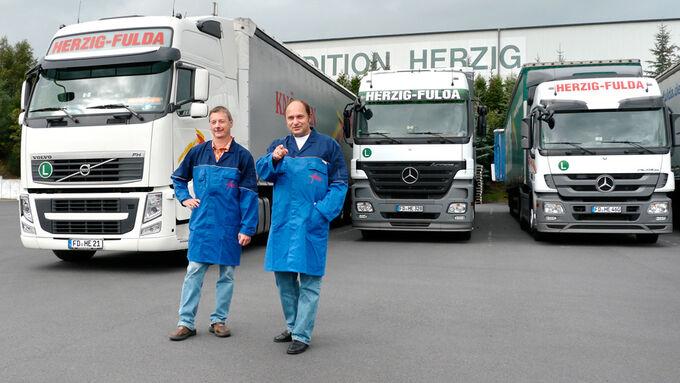 Politik und Wirtschaft, Herzig Fulda, Volvo FH, Mercedes, Staatssekretär Bomba