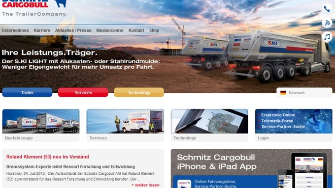 Schmitz Cargobull Website Screenshot cargobull.com