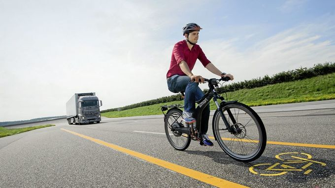 Verkehrssicherheit, Fahrrad, Lkw